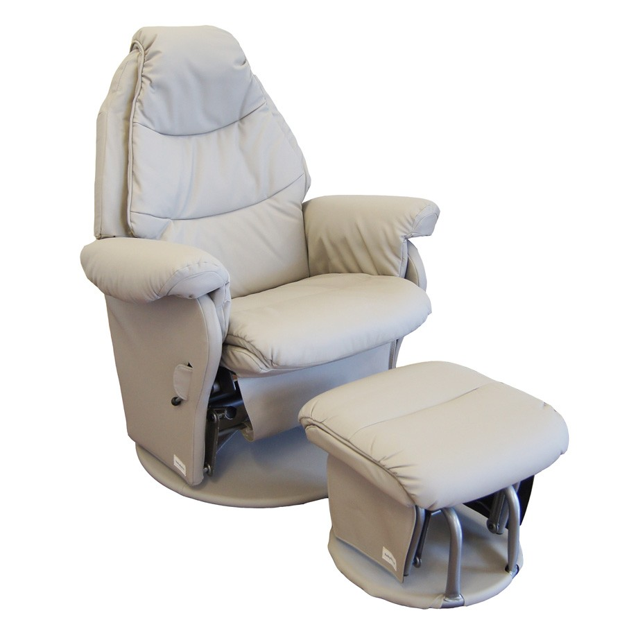 Vogue Feeding Glider Chair & Ottoman