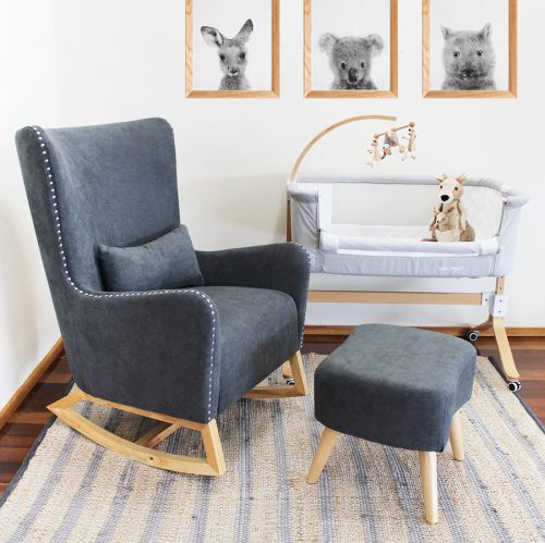 Valencia Rocking Chair Charcoal Grey