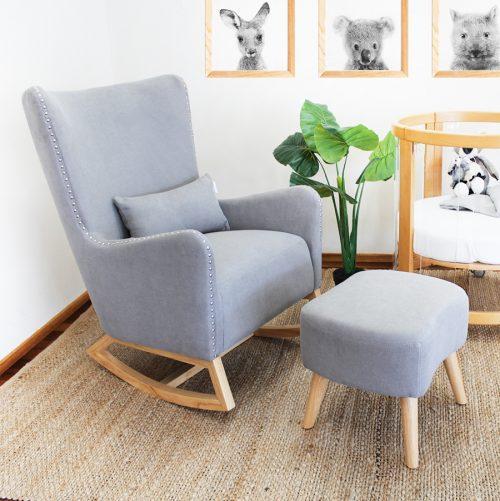 Valencia Rocking Chair Grey Stone