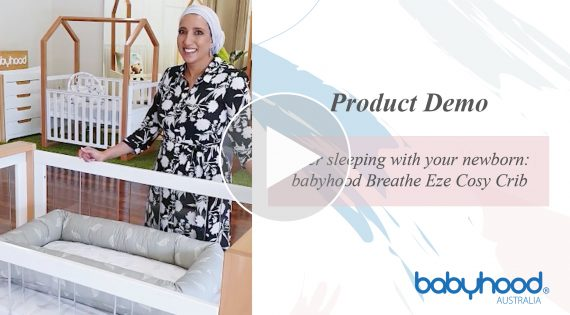 Safer sleeping with your newborn: babyhood Breathe Eze Cosy Crib product demo